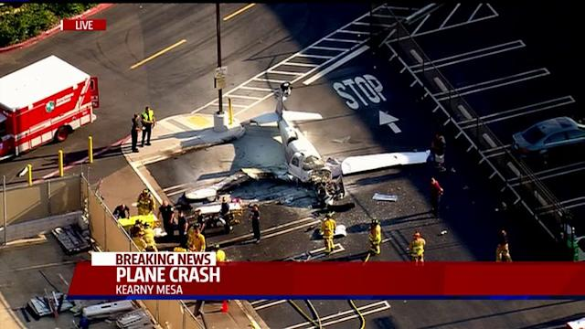 Plane Crashes In Costco Parking Lot
