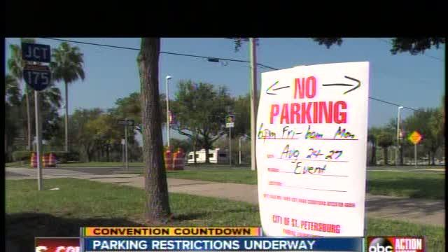 Restricted parking areas all around RNC