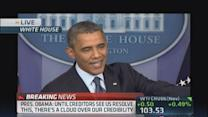 Obama: Won't calm creditors until stalement ends