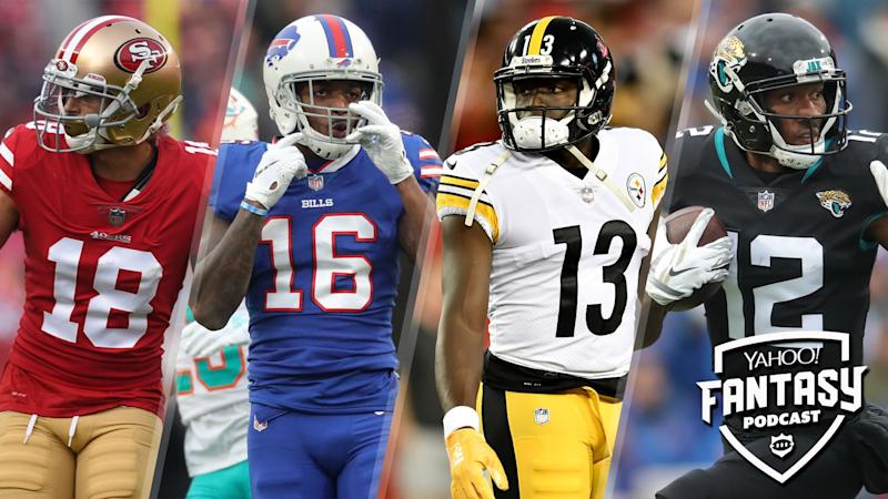 Fantasy Football Podcast: Questionable WR groups, plus AFC/NFC North win totals