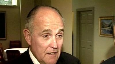 Rudy Giuliani Campaigns In Maine