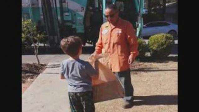 Garbage Collector Delivers Special Toy