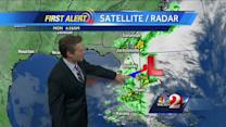 Drier air moving in