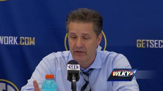 Raw video: Coach Cal comments on Cats win over LSU
