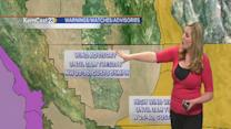 Winds kick up as cooler air rushes in