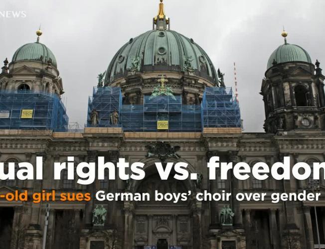 9-year-old girl sues a centuries-old Berlin boys' choir