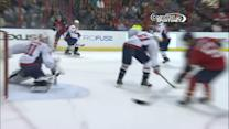 Philipp Grubauer sprawls out to rob Campbell