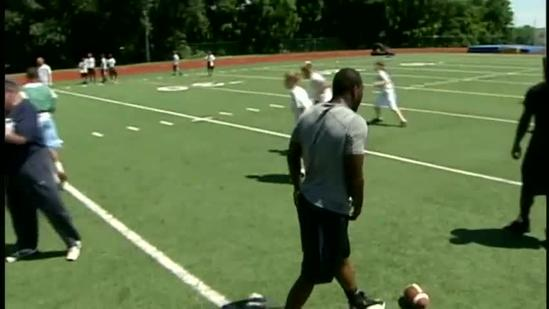Eagles running back hosts football camp at Penn Manor