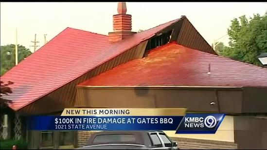Fire damages popular KC barbecue joint