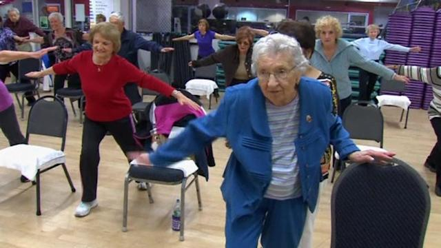 Centenarian still has spring in her step