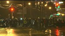 Raw: Few Protesters As Ferguson Curfew Begins