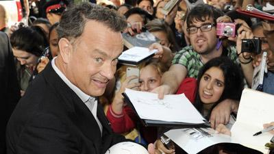 Hanks and Berry talk pot and 'Cloud Atlas'