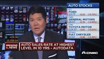 Auto sales rate highest in 10 years: Autodata