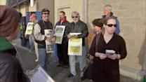 Protests greet shoppers at Walmart