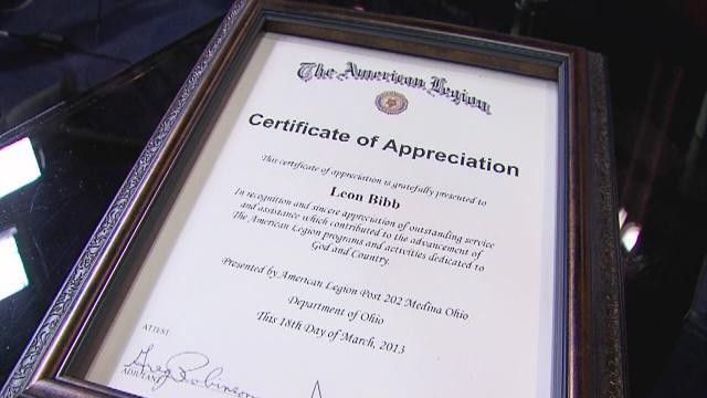 5pm: Leon Bibb honored by veterans