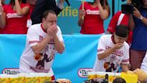 A new hot dog eating champion is crowned in Brooklyn