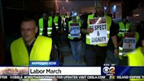 March, Rally Held In Support Of LA Produce Market Workers