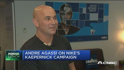 size 40 07de5 e2705 Legendary tennis player Agassi on Nikes Kaepernick campa...