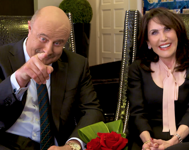 Dr  Phil flew a plane on his first date with wife, Robin [Video]