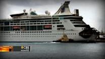 Royal Caribbean ship burns for hours