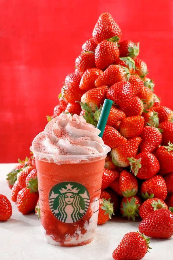 Starbucks coffee草莓多多星冰樂