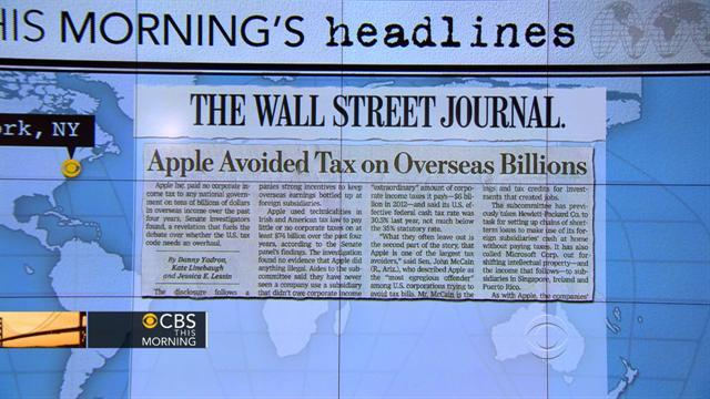 Headlines: Apple avoided paying billions in taxes