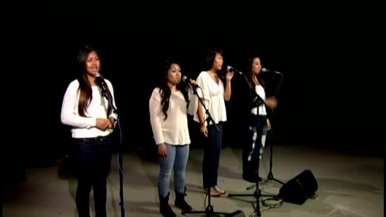 Moanalua High School finalists Risk take the stage