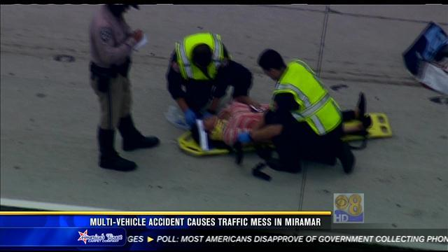 Multi-vehicle accident causes traffic mess in Miramar