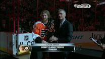 Flyers pregame awards ceremony