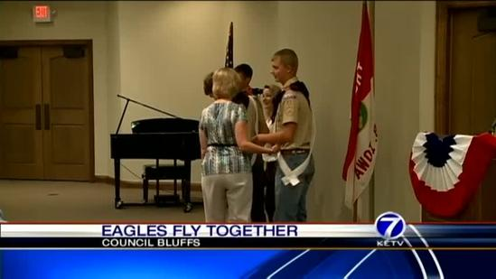Trio who lived through tornado named Eagle Scouts