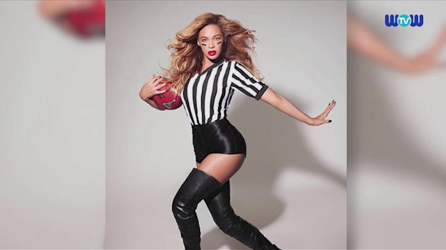 WOWtv - Beyonce Poses as a Sexy Referee as She Prepares For Super Bowl ShowShe may clean up as a sexy referee, but behind the scenes photos show Beyonce has been working hard in preparation for her Super Bowl halftime show.