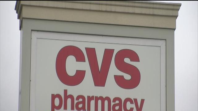 CVS drugstore for pulling cigarettes, cigars, chewing tobacco from shelves