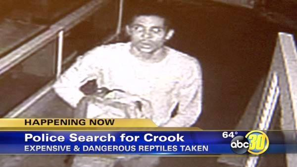 Video shows reptile theft at Fresno's Discovery Center