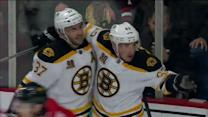 Brad Marchand scores high on the far side