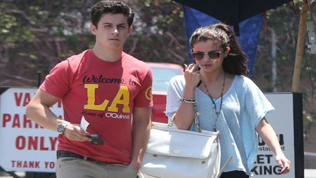 Spotted- Selena Gomez On Lunch Date With David Henrie