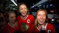 Fans Excited After Hawks Win Over Ducks