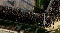 Long lines continue for buses at Barclays Center