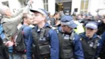Demonstrators Clash With Police on First Day of Parlaiment
