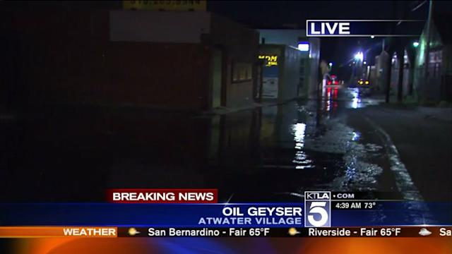 50,000 Gallons of Crude Oil is Knee-High in Atwater Village