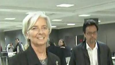 Raw: IMF's Lagarde to DC After Home Searched
