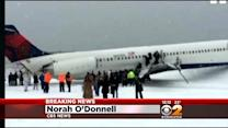 CBS News' Norah O'Donnell Describes Scene After Plane Skids Off Runway At LaGuardia