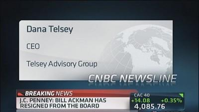 Ackman resigns from JC Penney board