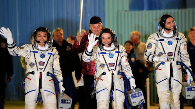 Olympic Torch Blasts Off Into Space