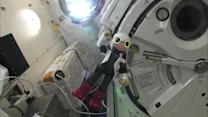 Japanese robot awaits human astronaut on space station
