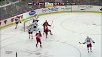 Marc Methot gets up close to score