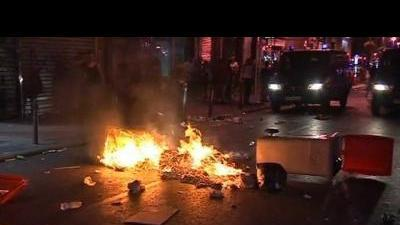 Protesters clash with Spanish police