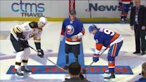 Travis Mills drops ceremonial puck
