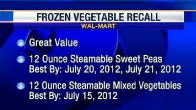 Walmart Recalls Frozen Vegetables