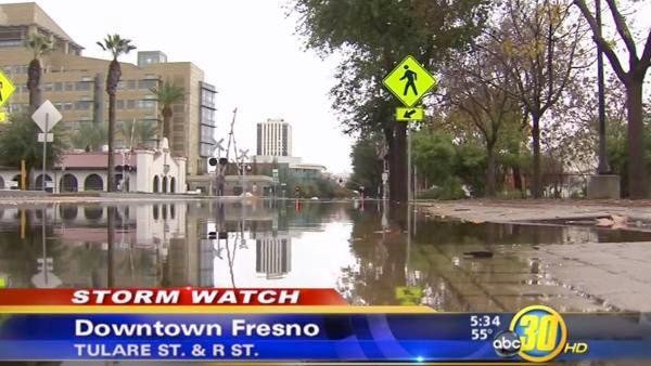 Weekend storms flood Valley streets