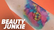 Get an Awe-Inspiring Watercolor Tattoo Without the Commitment